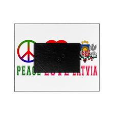 Peace Love Latvia Picture Frame