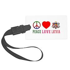 Peace Love Latvia Luggage Tag