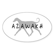 Azawakh Dogs Oval Decal