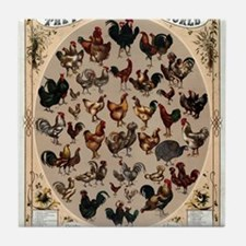 Poultry of the World Tile Coaster