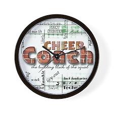 cheer coach graphic Wall Clock