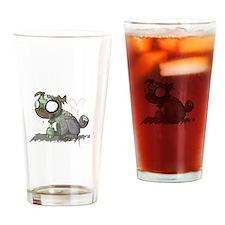 Zombie Pug Love Drinking Glass