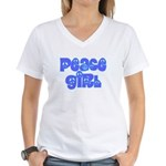 Peace Girl Women's V-Neck T-Shirt