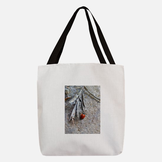 Little ladybug Polyester Tote Bag