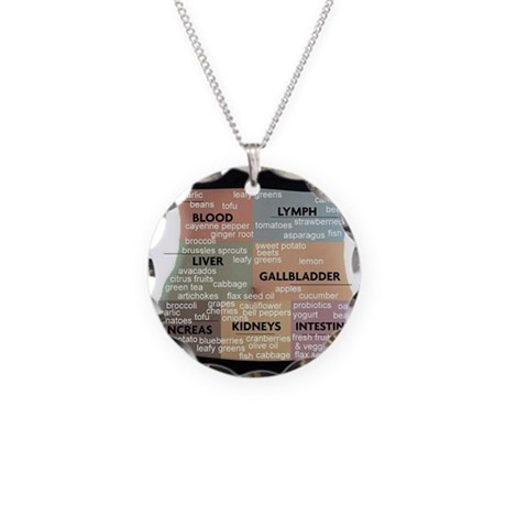 Detox Your Body Necklace Circle Charm