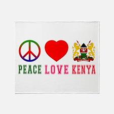Peace Love Kenya Throw Blanket