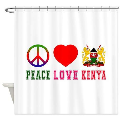 Peace Love Kenya Shower Curtain