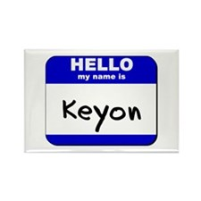 hello my name is keyon Rectangle Magnet