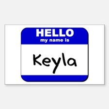 hello my name is keyla Rectangle Decal