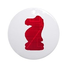 Red Knight Ornament (Round)