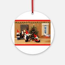 Holiday Gnome Decorators Ornament (Round)