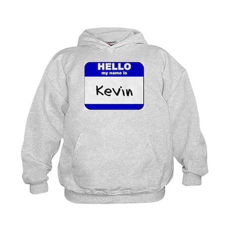 hello my name is kevin Kids Hoodie