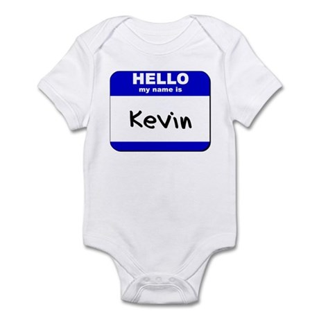 hello my name is kevin Infant Bodysuit
