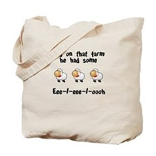 On That Farm - Sheep Tote Bag