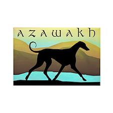 Azawakh Seaside Rectangle Magnet