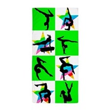 GREEN STAR GYMNAST Beach Towel