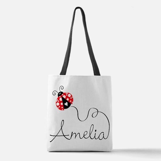 Ladybug Amelia Polyester Tote Bag