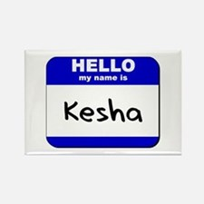 hello my name is kesha Rectangle Magnet