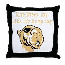 Hump Day - Drk Throw Pillow