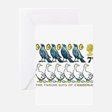 1977 Great Britain 12 Days of Christmas Stamp Gree