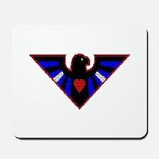 LEATHER EAGLE/BRICK/RED/ Mousepad