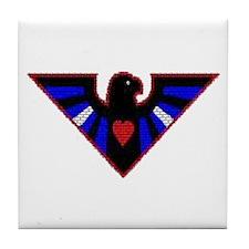 LEATHER EAGLE/BRICK/RED/ Tile Coaster