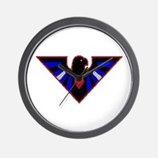 LEATHER FALCON/BRICK/RED/ Wall Clock
