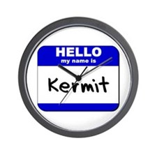 hello my name is kermit  Wall Clock