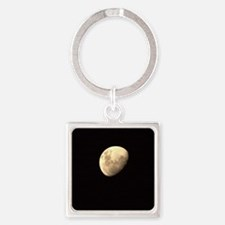 The moon Square Keychain