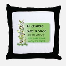 ANTI CRUELTY Throw Pillow