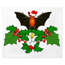 Batty Christmas King Duvet