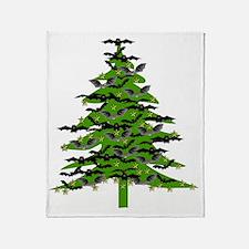 Bat Christmas Tree Throw Blanket