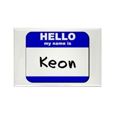 hello my name is keon Rectangle Magnet