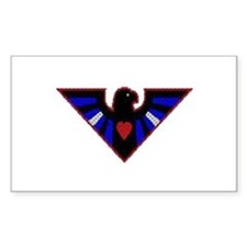 LEATHER EAGLE/BRICK/RED/ Rectangle Decal