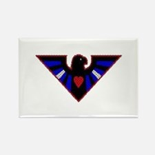 LEATHER EAGLE/BRICK/RED/ Rectangle Magnet