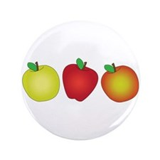 "Apples 3.5"" Button (100 pack)"