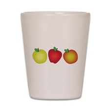 Apples Shot Glass