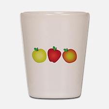 Apples Shot Glass