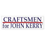 Craftsmen for John Kerry (bumper sticker)