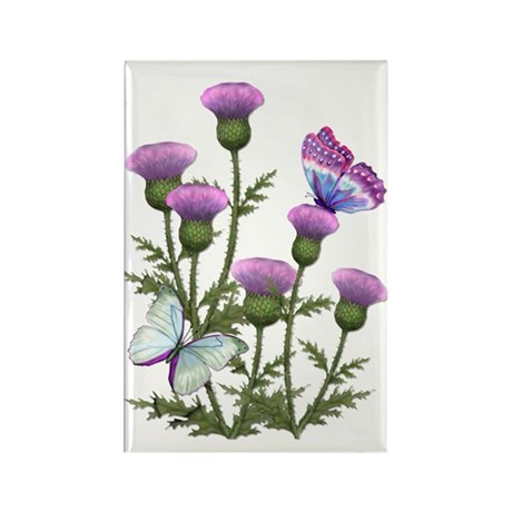 Thistle & Butterfly Rectangle Magnet