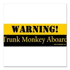 "Funny The monkeys trunk Square Car Magnet 3"" x 3"""