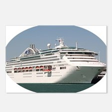Cruise ship 2 (oval) Postcards (Package of 8)