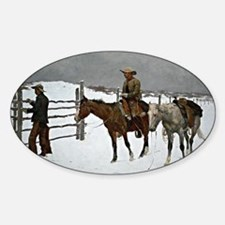 Remington: Fall of the Cowboy Sticker (Oval)