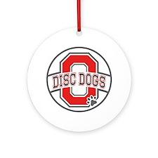 ODD White Logo Round Ornament