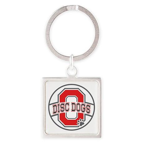 ODD White Logo Square Keychain