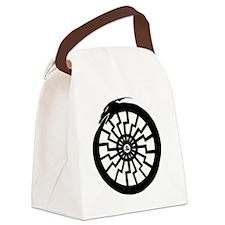 Serpentine Sun Wheel Canvas Lunch Bag