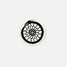 Serpentine Sun Wheel Mini Button