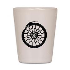 Serpentine Sun Wheel Shot Glass