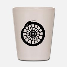 Serpentine Sun Wheel Shot Glass