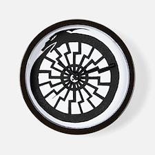 Serpentine Sun Wheel Wall Clock